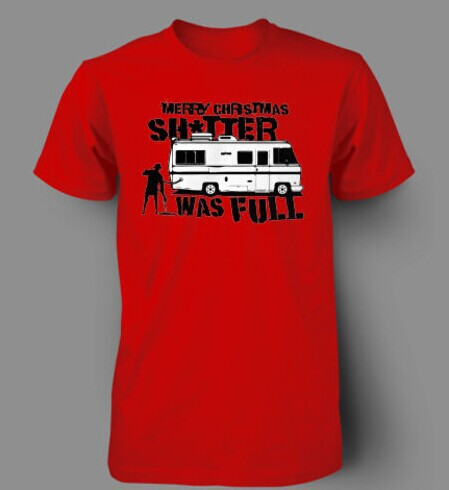 4e5d228c6b143 Shitters Full Christmas GRISWOLD FUNNY Mens T-Shirt 100% Cotton Printed Custom  T Shirt Men Short Sleeve Men Size S~XXXL