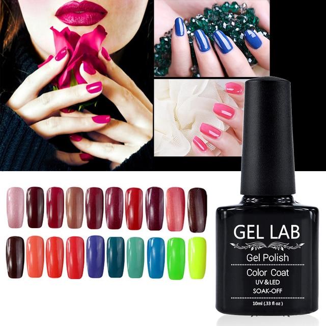 LABORATORIO DE GEL Elegir Cualquier 20 Colores 10 ml Empapa de UV/LED Gel Nail Salon Polaco Top Fundación DHL servicio de envío