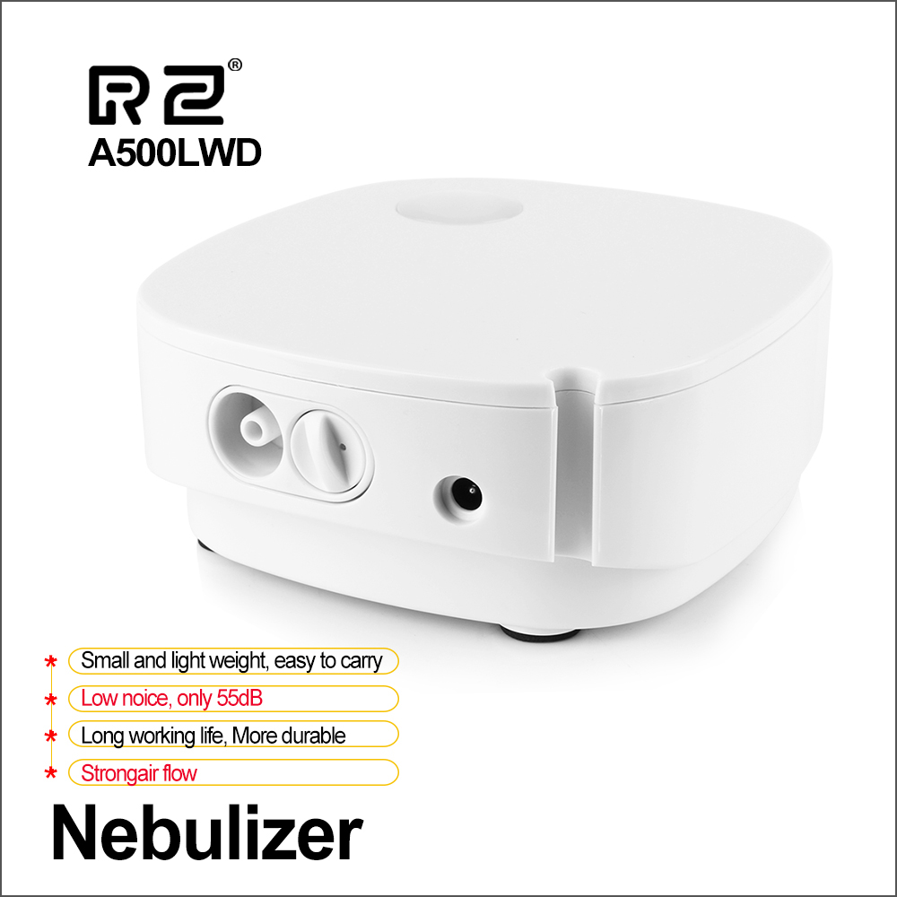 RZ Humidifier Respirator Inhale Ultrasonic Nebulizer Automizer Rechargeable Adult Home-Care title=