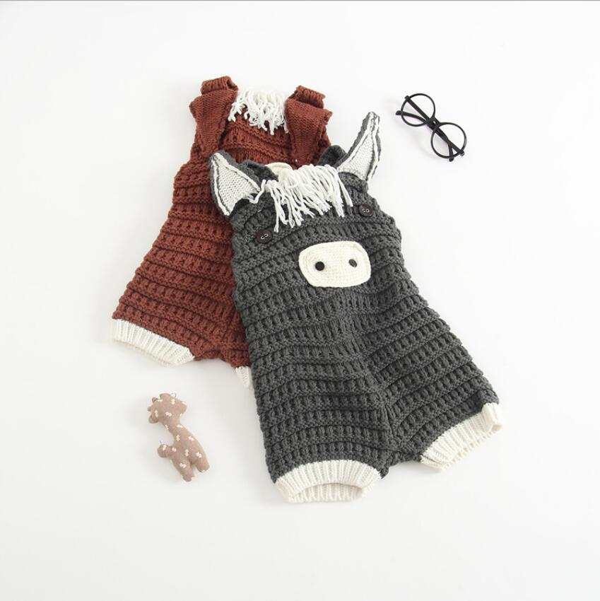 6m-3y Baby Rompers 20148 Fall  Girl Clothing Kids Cartoon Infant Girls Clothes Newborn Overalls Knitting Baby Jumpsuit