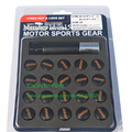 Free Shipping: 17 HEX Lock & Nut Set Racing Car Wheel Lock Nut Close End Forged Steel Rays Wheel Lug Nut M12XP1.5