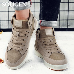 Winter Snow Boots Male Boots Men Casual Sneakers Sport Pulsh Shoes Mens Timber Boot Adult with Fur Puls Big Size Outdoor Ankle