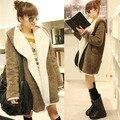 Womens Warm Plush Faux Fur Coat Cardigan Outerwear Outwear Hoodie Pockets Outerwear Coats