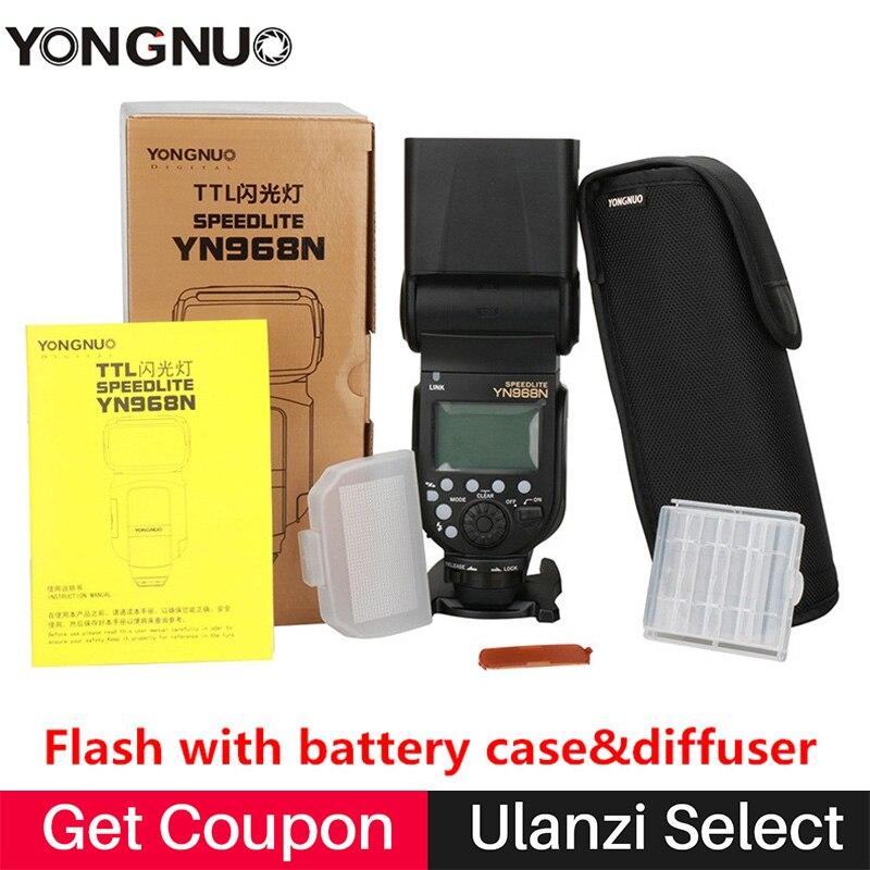 YONGNUO YN968N Wireless Flash Speedlite TTL 1/8000 Equipped LED Compatible w YN622N YN560-TX YN968ex for Nikon DSLR D5100 D5300 yongnuo yn 565ex n flash speedlite yn565ex n i ttl light for nikon dslr camera or pixel vertax d17 battery grip for nikon d500