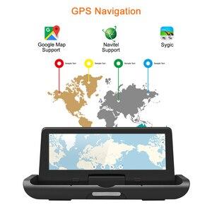 Image 3 - Bluavido 8 inch 4G Android DVR Full HD 1080P Camera Thiết Bị Dẫn Đường GPS ADAS Hai Ống Kính nhìn xuyên Đêm tự động Ghi hình Dash Cam