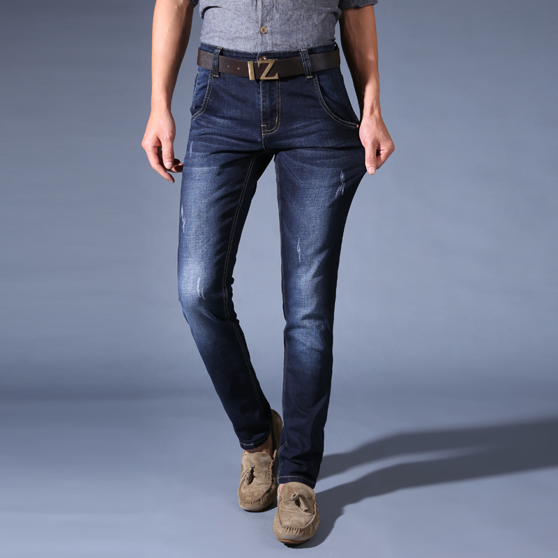 Fashion Men Jeans Business Casual Stretch Slim Jeans Classic Trousers Denim Pants Designer Trousers Casual Skinny Straight Pants