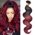T1B/Burgundy Ombre Hair Extensions 7A Peruvian Virgin Hair Body Wave Bundles t1b/99j Ombre Human Hair Bundles Peruvian Body Wave