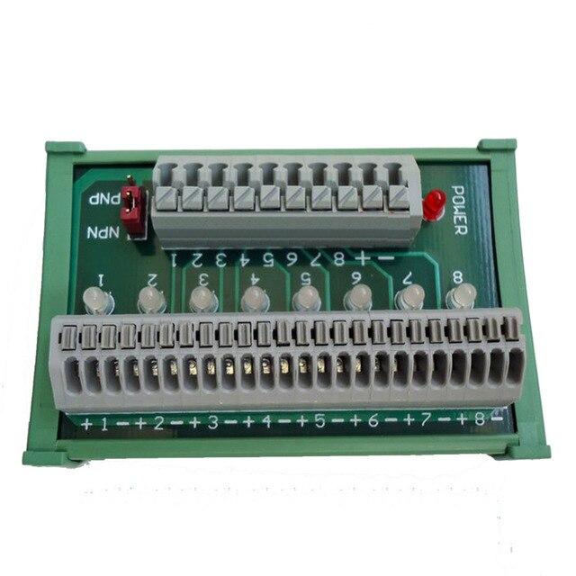 PLC Sensor Distribution Terminal Block Board DIN Rail Compatible ...