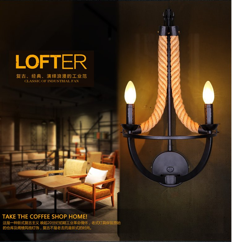 Loft Lamps new classic wall lights rope Edison bulb lamp modern fixtures lighting led industrial iron pipe antique light 2013 antique outdoor lighting for wall decerative wall light with edison light bulb vintage wall lamps
