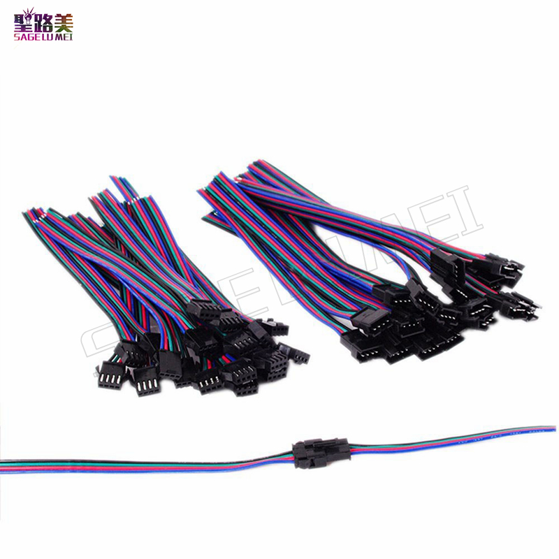2pin 3pin 4pin led connector Male/female JST SM 2 3 4 5Pin Plug Connector Wire cable for led strip light Lamp tape Driver CCTV