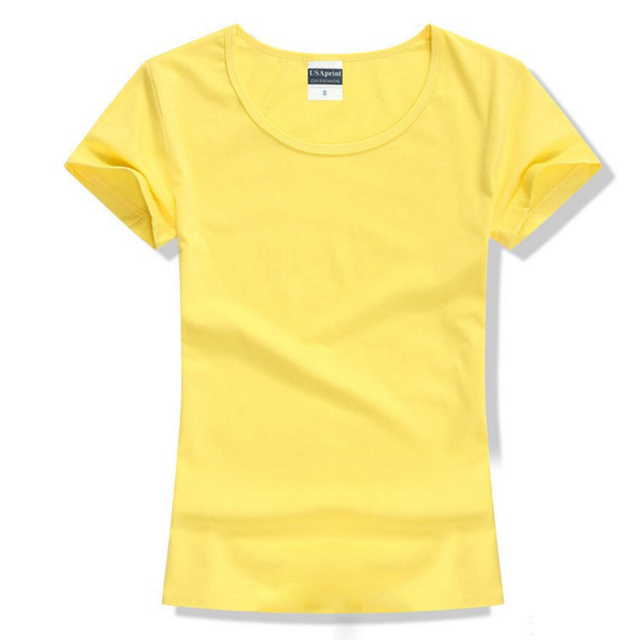 b1f01dba76 US $4.79 20% OFF|Brand New fashion women t shirt brand tee tops Short  Sleeve Cotton tops for women clothing solid O neck t shirt-in T-Shirts from  ...