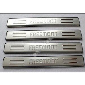 Высокое качество, автомобильный стиль, нержавеющая сталь, порог для двери, Накладка на порог, протектор, порог для FIAT Freemont 2012-2014