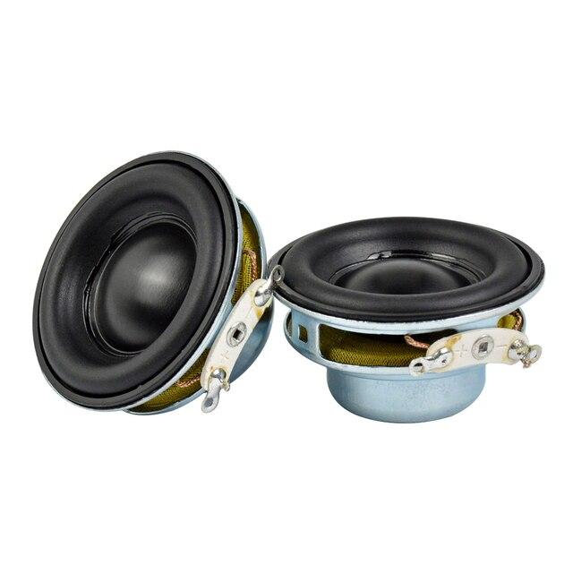 Aiyima 2 Pcs 5W 40 Mm Mini Audio Draagbare Luidsprekers 16 Core 4Ohm Full Range Speaker Rubber Side Ndfeb magnetische Luidspreker