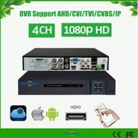 H.265 5 EM 1 CVI TVI AHD XVR 4Ch CVBS IP 1080P Segurança CCTV DVR NVR Híbrido Gravador De Vídeo onvif 6TB P2P Vista AS AVR3304F 265|hybrid video recorder|dvr nvr|cctv dvr -