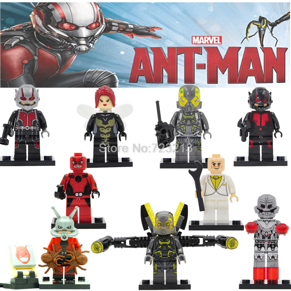 Single Sale Ant-Man Marvel Super Hero Ant Man Figure Wasp YellowJacket Building Block Models Bricks Kits Toys ant man ant man yellow jacket 6 5cm mini figure with acrylic base action figure toys