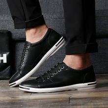 New Hot Big Size Men Casual Microfiber Shoes 2017 Spring Autumn Men Leather Low Top Shoes Men Daily Light Comfortable Flat Shoes