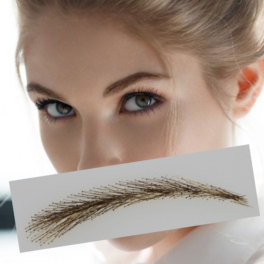 2018 Rushed Sobrancelha Eyebrows Factory Supply Three dimensional Shape lace Eyebrow Type Fashion Real Easy To