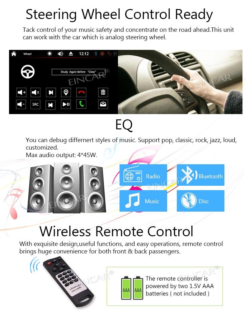 Bluetooth áudio estéreo do carro in dash fm aux entrada receptor sd usb mp3 player de rádio universal 2din dvd cd player controle remoto - 4