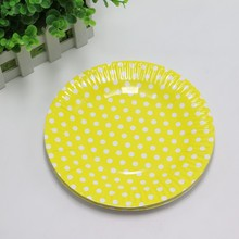 Polka Dot Paper Plates 10 pcs/lot