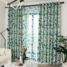 Nordic Minimalist Curtains for Children Print Curtains for Living Room Bedroom Blackout Voile Curtain Tulle Fabric(China)