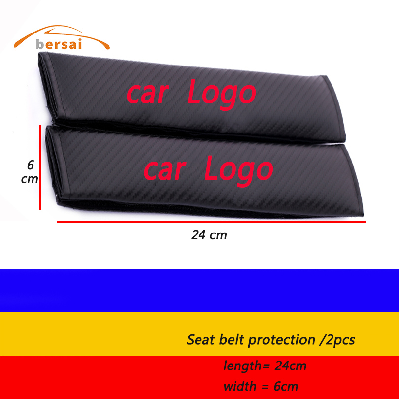 2x Carbon Fiber Auto Car Seat Belt Cover Pads Shoulder Cushion fit for SAAB