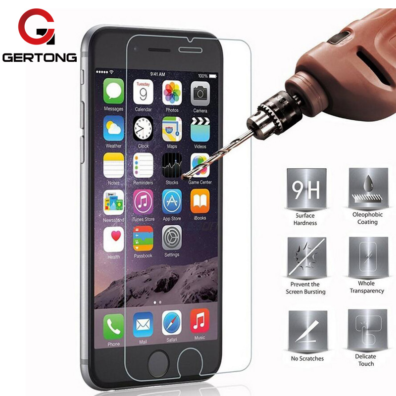 Tempered Glass For iPhone 7 Plus 4 4S 5 5S 5C SE 6 6S 6S Plus For iPod 4 5 6 Screen Protector Phone Cases Cover Toughened Film