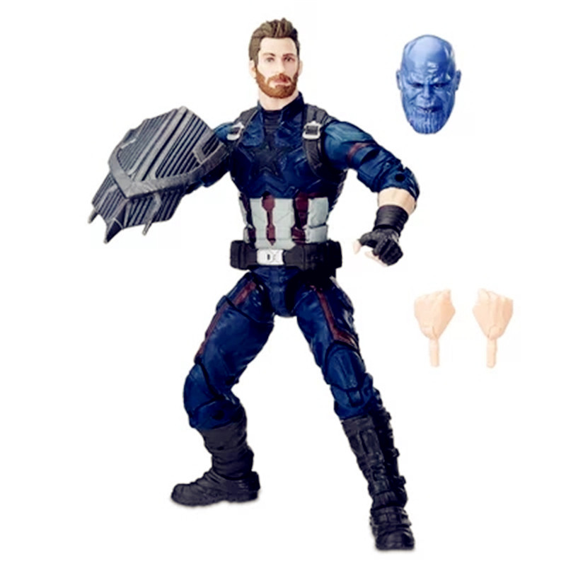 Avengers:Infinity War Superhero Steve Rogers Captain America Shield Thanos Mask PVC Action Figure Model Toy G1188 metal colour the avengers civil war captain america shield 1 1 1 1 cosplay steve rogers metal model shield adult replica wu525