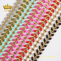 5meters Enamel Gold Copper Chevron Chains,Delicate Unique Fishbone Fishtail Chain Findings,Herringbone Flat Arrow Designer HX205