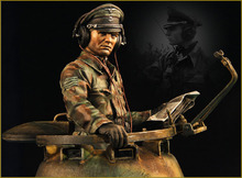 Assembly Scale 1 10 WWII German tank drivers figure WWII Resin Model Free Shipping Unpainted