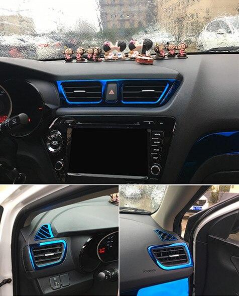 5pcs/set Car styling ,Car Air Vent cover trim Decoration frame Fit For KIA RIO 3 K2 2011-2014 2015 2016car accessories