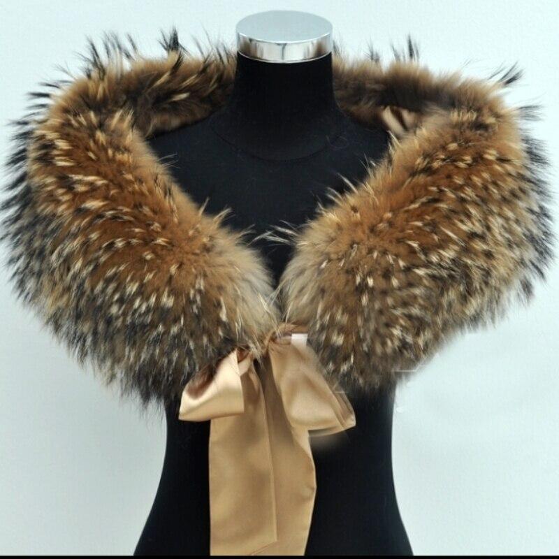Glaforny высокое качество натуральной енота меховой воротник свадьбы Свадебная накидка супер большой меховой шарф натуральный мех платок женс