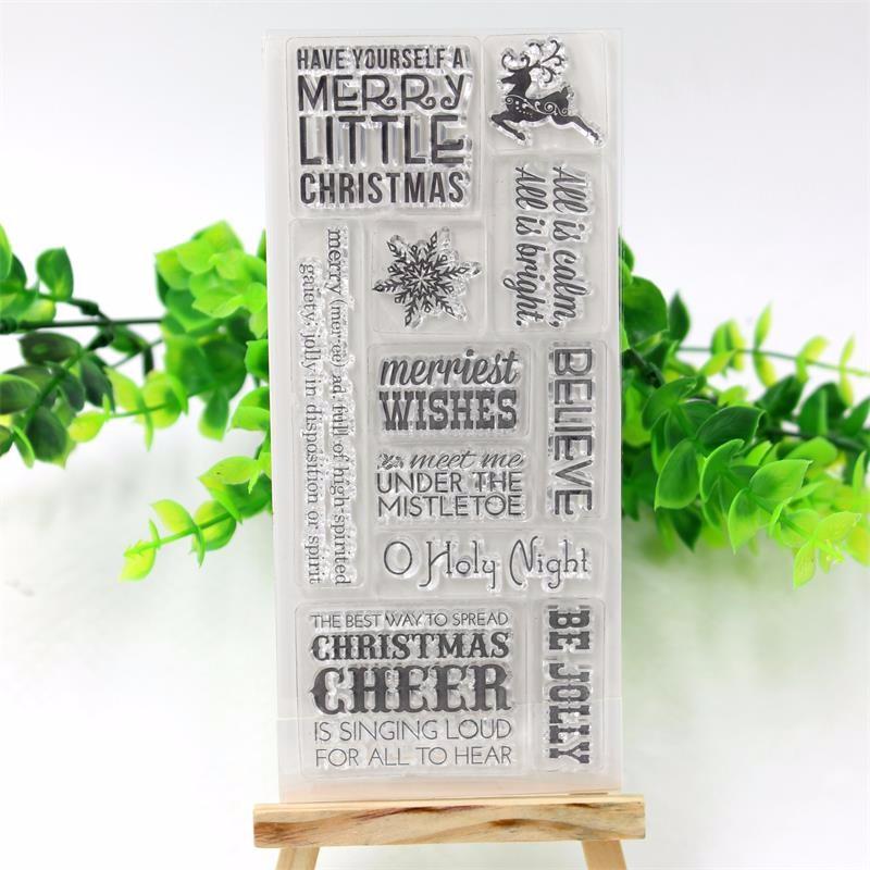 ППМС ремесло рождество прозрачный силиконовый штамп/печать для DIY и скрапбукинг/фотоальбом декоративные ясно печать листов