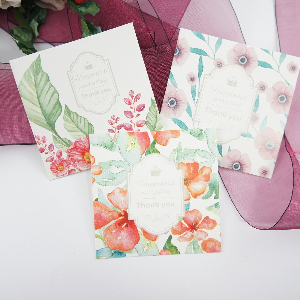 50pcs Mini Thank You Crown Style Mix Diy Card Message Cards Wedding