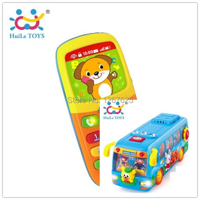 Safety Bebe Toy Eletronicos Shaking Bus Brinquedos para Baby Toys Music Mobile Free Shipping Huile Toys 908 & 956