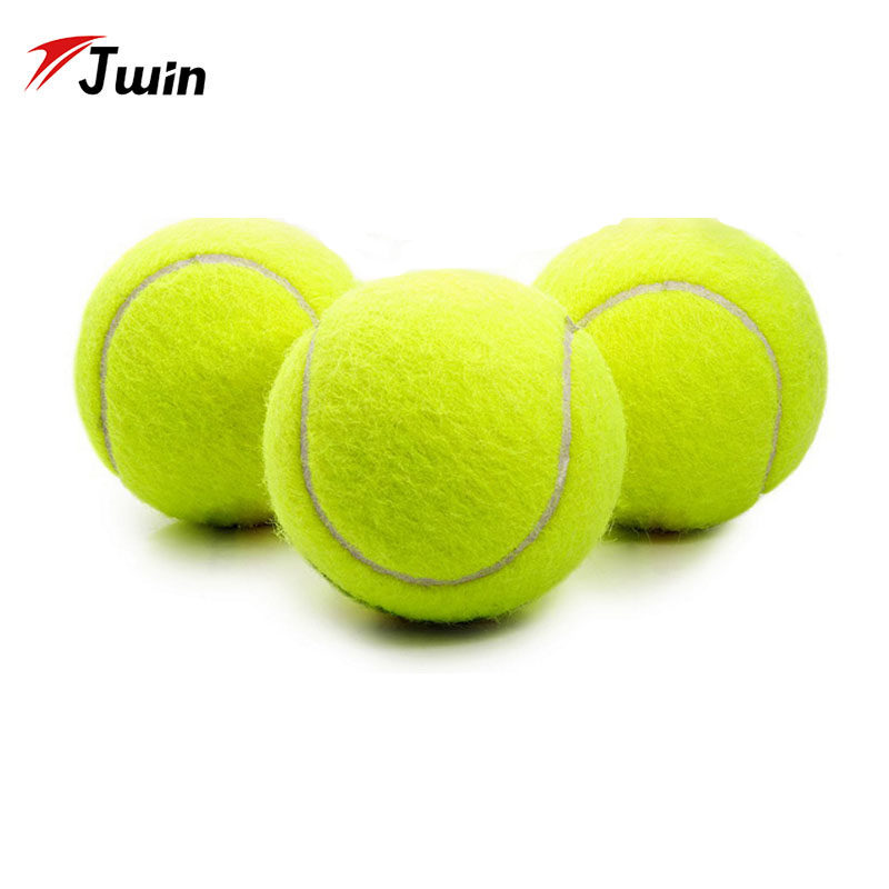 3Pcs Rubber Tennis Ball High Resilience Durable Tennis Practice Ball For School Club Competition Training Exercises