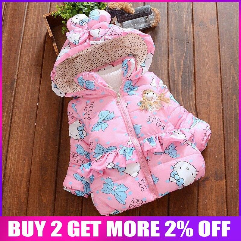 fc03af985 BibiCola neue baby mädchen winter mantel Kinder Oberbekleidung, baby  mädchen Cartoon katze Winter Mantel, baby jacken, mädchen kleidung der ~ Hot  Sale June ...