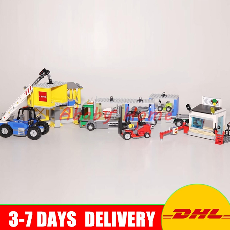 Lepin 02082 New 829Pcs City Series The Cargo Terminal Set DIY Toys 60169 Building Blocks Bricks Children Educational Gifts Model hot sale 1000g dynamic amazing diy educational toys no mess indoor magic play sand children toys mars space sand