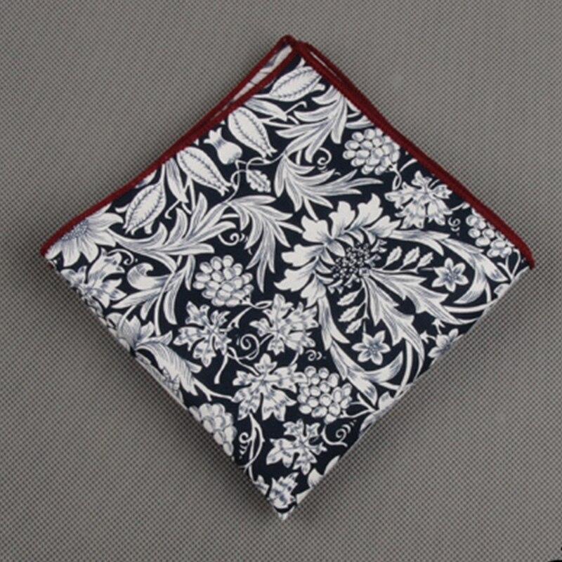 Mantieqingway Fashion 23*23CM Cotton Handkercheifs For Wedding Party Causal Polka Dots Pocket Square Printed Hankies Chest Towel