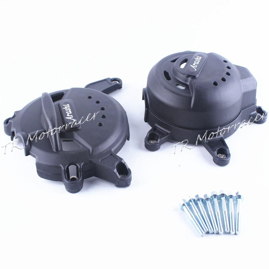 Для KTM RC390 2014 2015 Двигатель статора кривошипно Чехол черный замена углеродного волокна + ABS пластик Новый