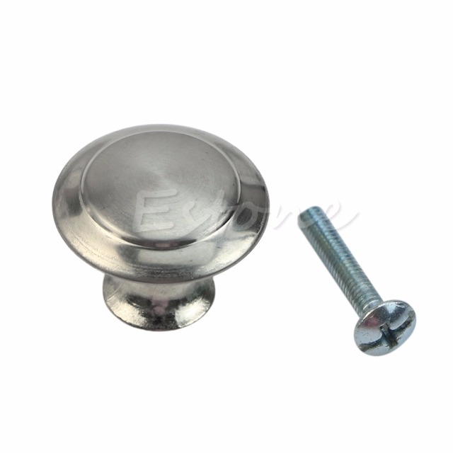 OOTDTY High Quality Silver Round Stainless Steel Cabinet Knobs - Stainless steel knobs for kitchen cabinets