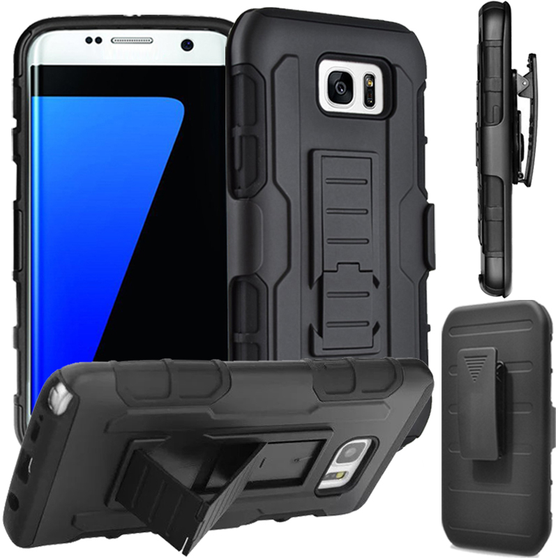 Rugged Belt Clip Holster Cover For Samsung Galaxy Note 5 4 3 2 S7 S6 edge Plus S5 S4 S3 mini Armor Shockproof Stand Hard Cases