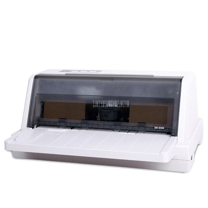 Aiguille Type Imprimante Express Facture D'impôt Bordereau de livraison Entièrement Automatique Bureau Facture Imprimante USB Interface 55-297mm Largeur DB-615K