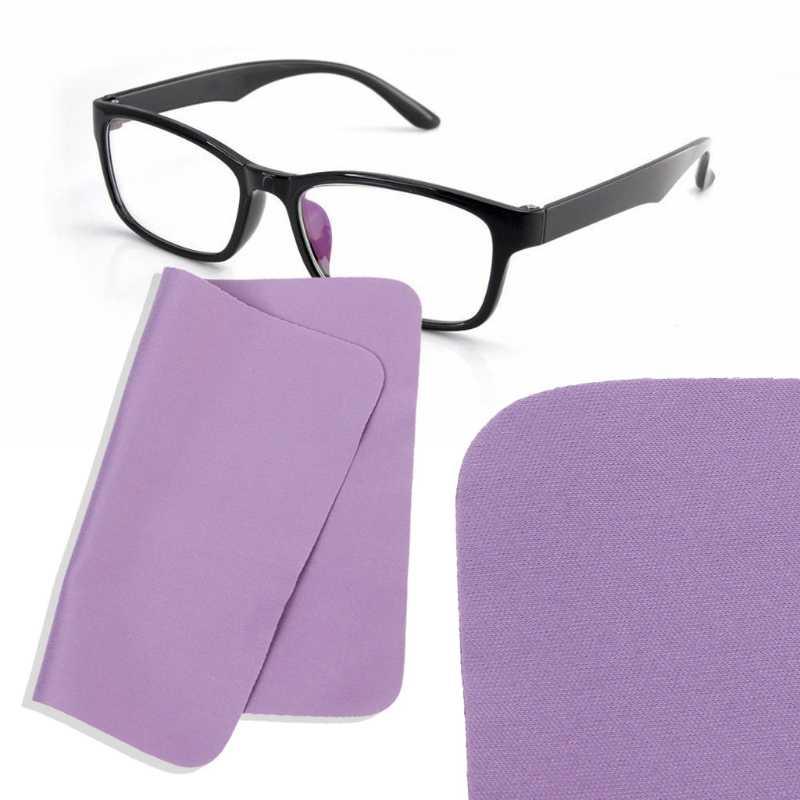 حار جديد 1 قطعة قطعة قماش لتنظيف النظارات عدسة العناية الأرجواني ستوكات هاتف مزود بكاميرا منظف الشاشة للرجال النساء جودة عالية