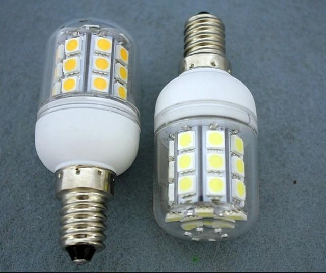 3PCS E27/E14/G9 27 LED 5050 SMD 5.5W  7W 12W High Power LED Corn Bulb White / Warm White LED Lamp 220V Shipping Free