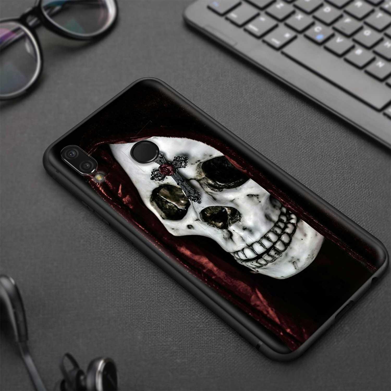 Lavaza Morte di Preghiera Grim Reaper Scheletro Del Cranio di Caso per Huawei Honor 10 9 8 8x 8c 7x 7c 7a Nota nova 3 3i Lite Y9 Y7 Y6