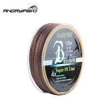 ANGRYFISH Diominate PE Line 4 Strands Braided 100m/109yds Super Strong Fishing 10LB-80LB