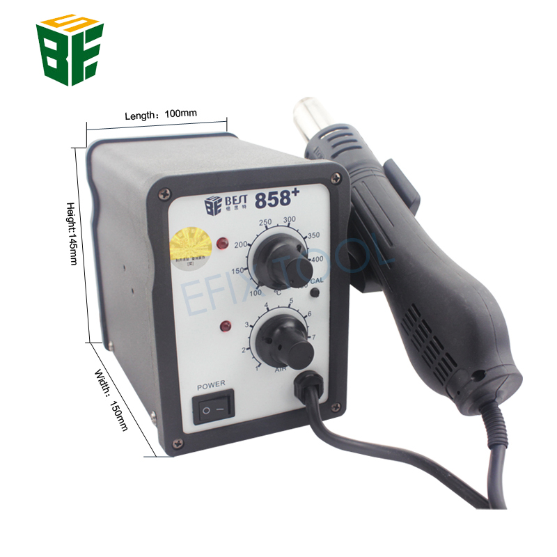 цена на BST-858+ Lead Screw Type Hot Air Gun Temperature Adjustable Rework Station Desoldering Welding Tool