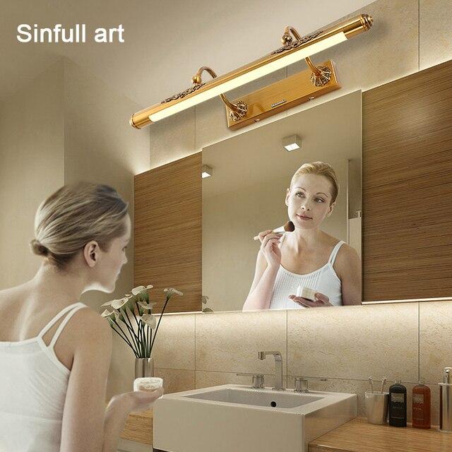 Europäischen Led Badezimmer Lampe Amerikanische Golden Spiegel Licht ...