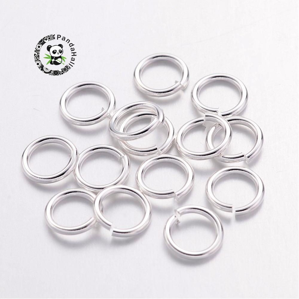 500g Jump Rings, Close but Unsoldered, Brass, Silver Color, about 7mm in diameter, 1mm thick; about 5mm inner diameter
