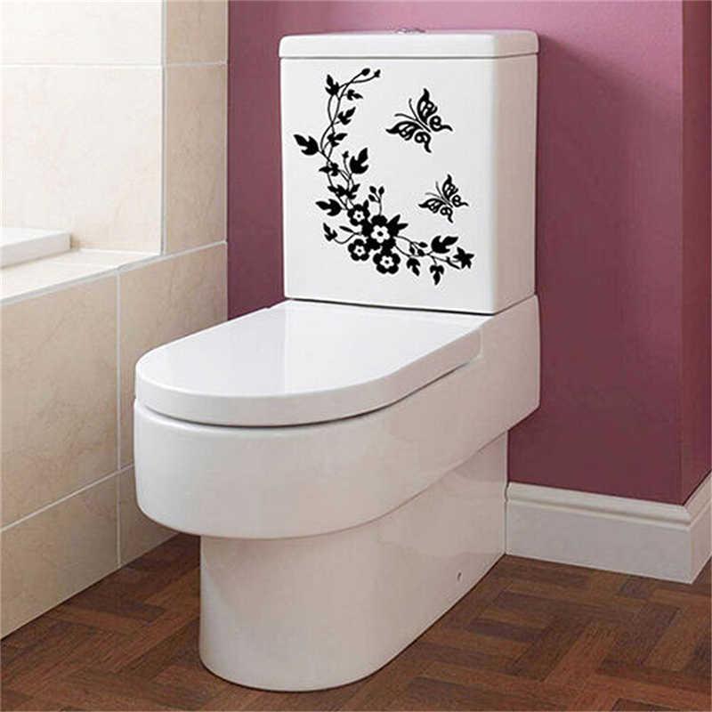 Phòng Tắm Sáng Tạo Tủ Lạnh Đen Miếng Dán Bướm Dán Tường Trang Trí Nhà Cửa Tường Bếp WC Nhà Bướm Dán
